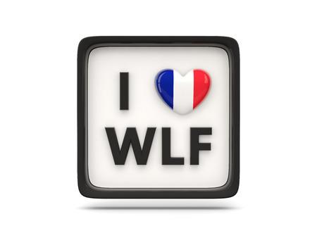 wallis: I love wallis and futuna sign isolated on white