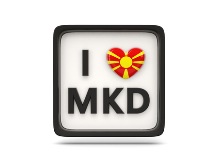 macedonia: I love macedonia sign isolated on white