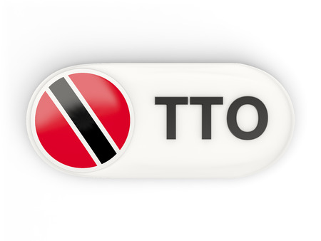 national flag trinidad and tobago: Round icon with flag of trinidad and tobago and ISO code