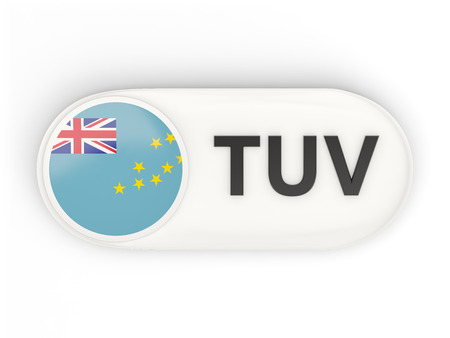 tuvalu: Round icon with flag of tuvalu and ISO code Stock Photo