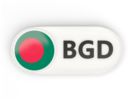 national flag bangladesh: Round icon with flag of bangladesh and ISO code Stock Photo