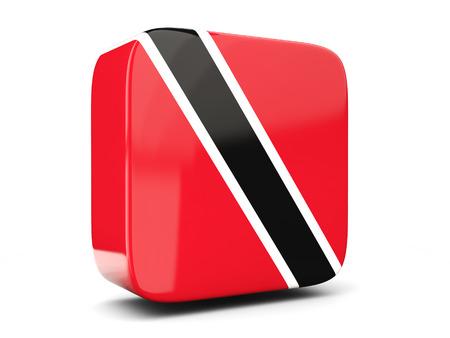 national flag trinidad and tobago: Square icon with flag of trinidad and tobago square isolated on white. 3D illustration