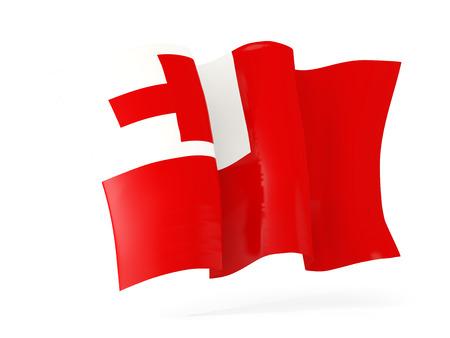 tonga: Waving flag of tonga isolated on white. 3D illustration