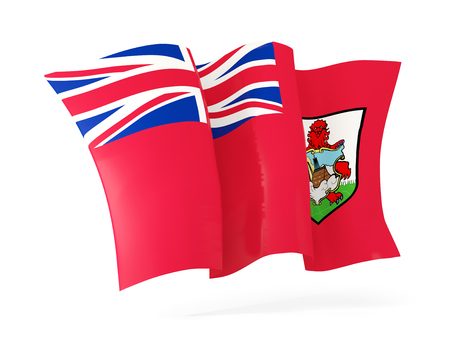 bermuda: Waving flag of bermuda isolated on white. 3D illustration