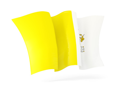 vatican city: Waving flag of vatican city isolated on white. 3D illustration