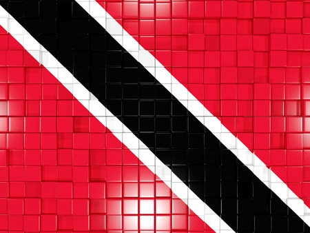 national flag trinidad and tobago: Mosaic background with square parts. Flag of trinidad and tobago. 3D illustration
