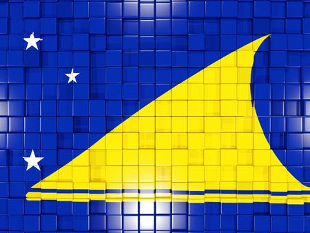 tokelau: Mosaic background with square parts. Flag of tokelau. 3D illustration