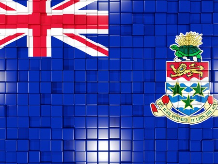 cayman islands: Mosaic background with square parts. Flag of cayman islands. 3D illustration