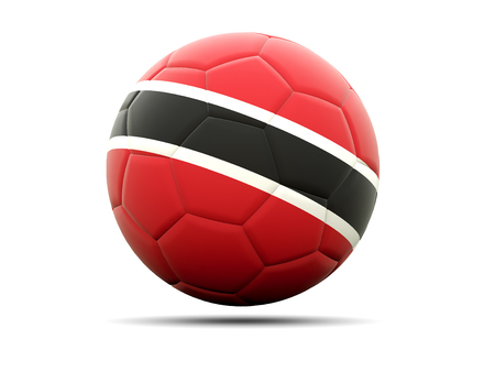 trinidad and tobago: Football with flag of trinidad and tobago. 3D illustration