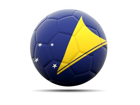 tokelau: Football with flag of tokelau. 3D illustration