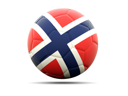 norway flag: Football with flag of norway. 3D illustration Stock Photo