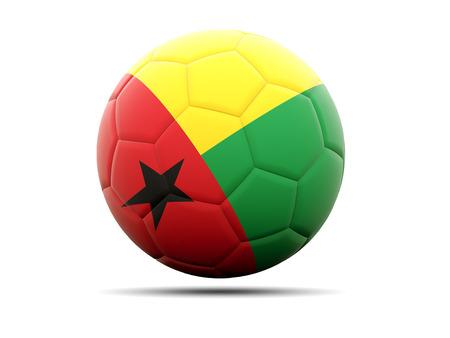 guinea bissau: Football with flag of guinea bissau. 3D illustration Stock Photo