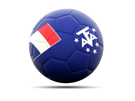 territories: Football with flag of french southern territories. 3D illustration Stock Photo