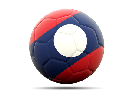 laos: Football with flag of laos. 3D illustration