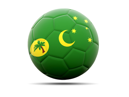 cocos: Football with flag of cocos islands. 3D illustration