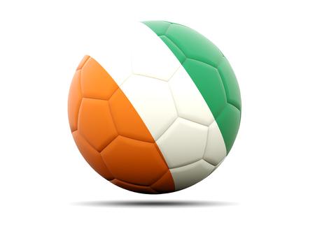 cote d ivoire: Football with flag of cote d Ivoire. 3D illustration