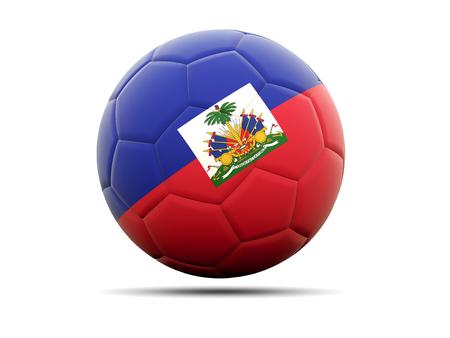 haiti: Football with flag of haiti. 3D illustration