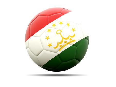 tajikistan: Football with flag of tajikistan. 3D illustration