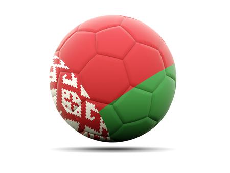belarus: Football with flag of belarus. 3D illustration Stock Photo