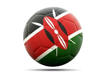 kenya: Football with flag of kenya. 3D illustration