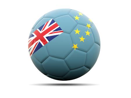 tuvalu: Football with flag of tuvalu. 3D illustration