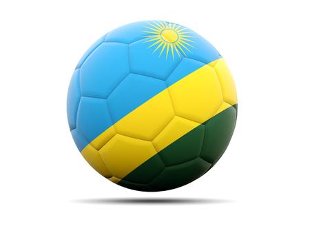 rwanda: Football with flag of rwanda. 3D illustration Stock Photo