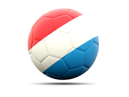 football team: Football with flag of luxembourg. 3D illustration
