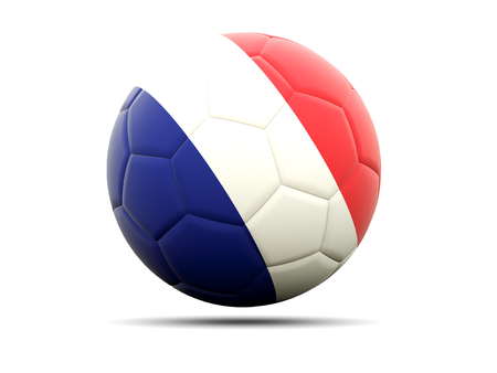 worldcup: Football with flag of france. 3D illustration