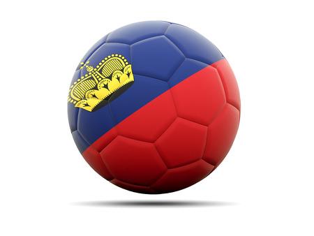 liechtenstein: Football with flag of liechtenstein. 3D illustration Stock Photo