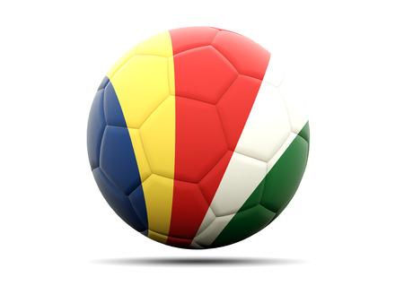 seychelles: Football with flag of seychelles. 3D illustration Stock Photo