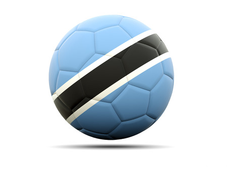 botswana: Football with flag of botswana. 3D illustration