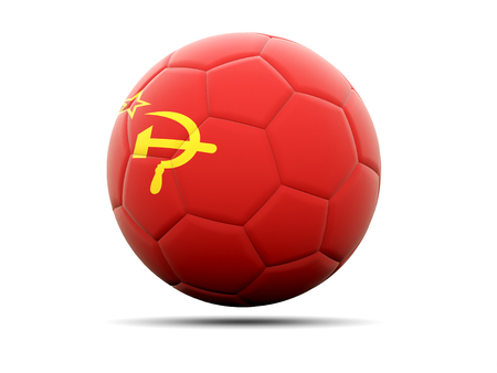 ussr: Football with flag of ussr. 3D illustration