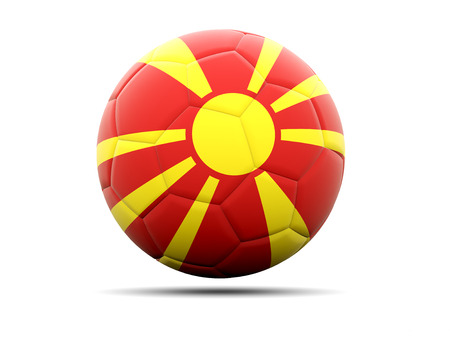 macedonia: Football with flag of macedonia. 3D illustration