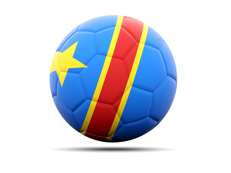 democratic: Football with flag of democratic republic of the congo. 3D illustration Stock Photo
