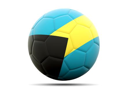 bahamas: Football with flag of bahamas. 3D illustration