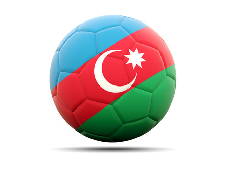 worldcup: Football with flag of azerbaijan. 3D illustration Stock Photo