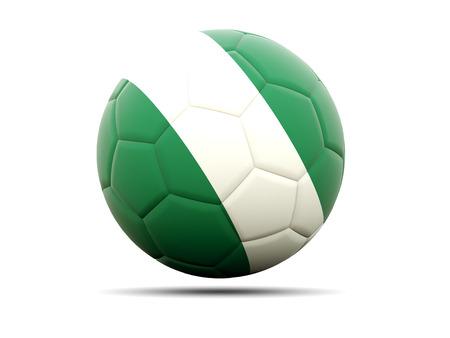 soccer team: Football with flag of nigeria. 3D illustration