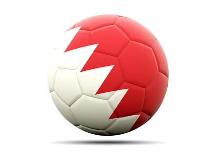 bahrain: Football with flag of bahrain. 3D illustration