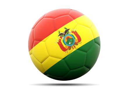 bolivia: Football with flag of bolivia. 3D illustration Stock Photo
