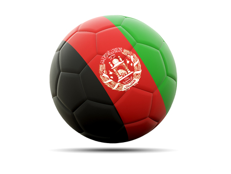 afghanistan: Football with flag of afghanistan. 3D illustration Stock Photo