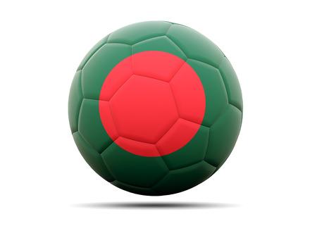 national flag bangladesh: Football with flag of bangladesh. 3D illustration