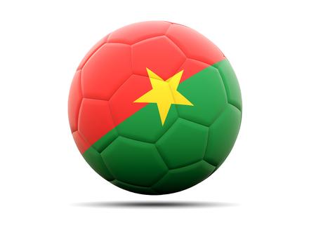 burkina faso: Football with flag of burkina faso. 3D illustration