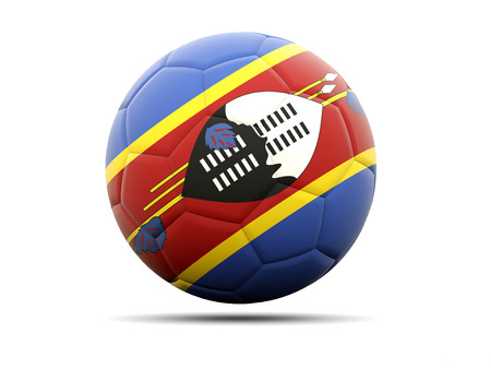 swaziland: Football with flag of swaziland. 3D illustration Stock Photo