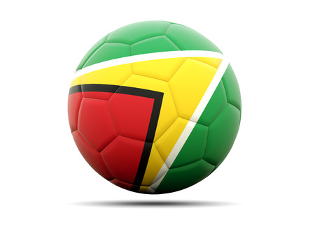guyana: Football with flag of guyana. 3D illustration