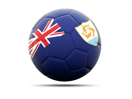 anguilla: Football with flag of anguilla. 3D illustration Stock Photo