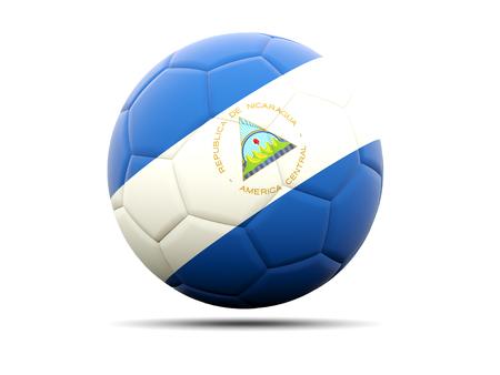 nicaragua: Football with flag of nicaragua. 3D illustration Stock Photo