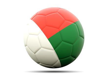 madagascar: Football with flag of madagascar. 3D illustration Stock Photo