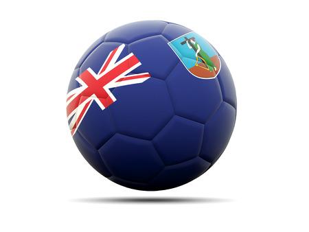 montserrat: Football with flag of montserrat. 3D illustration Stock Photo