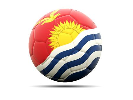 kiribati: Football with flag of kiribati. 3D illustration