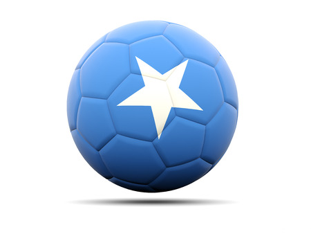 somalia: Football with flag of somalia. 3D illustration
